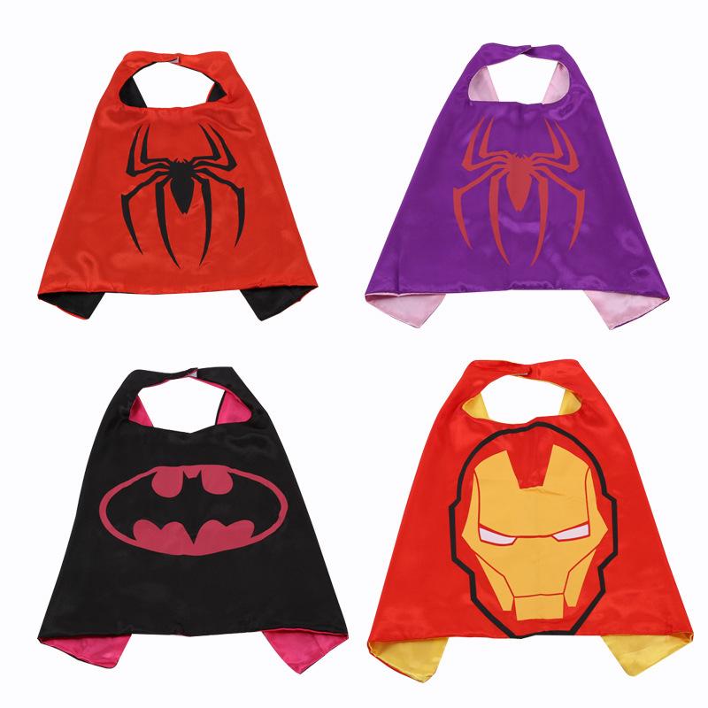 Áo choàng trẻ em Cung cấp phim hoạt hình thiếu nhi áo choàng đôi siêu nhân áo choàng anh hùng hóa tr