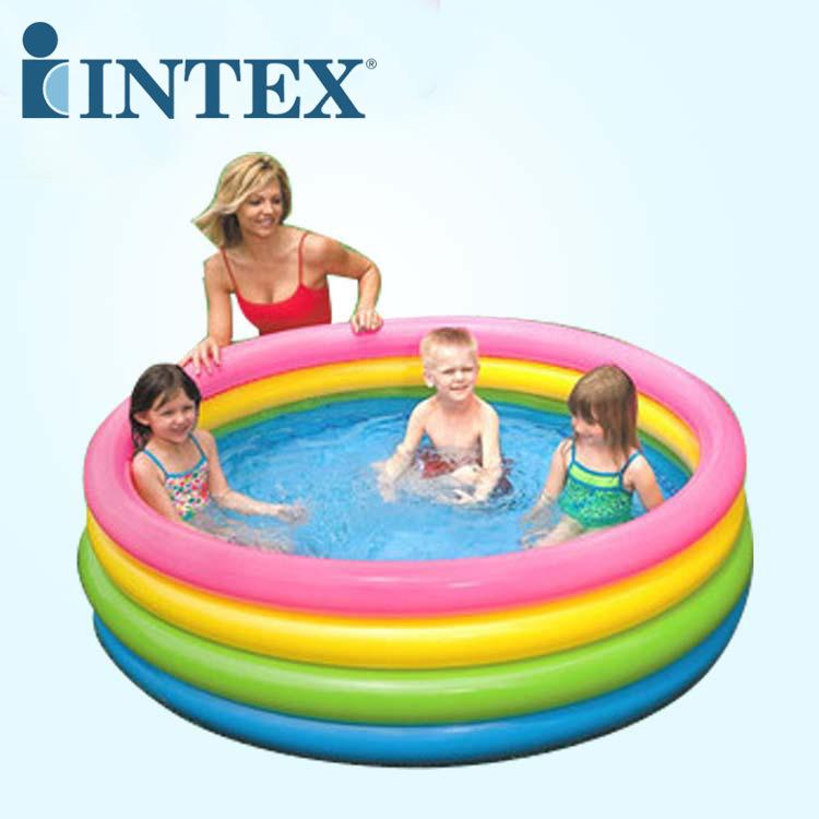 INTEX bể bơi trẻ sơ sinh 56441 vòng huỳnh quang hồ bơi trẻ em bơm hơi tròn bể bơi trẻ em Báo cáo