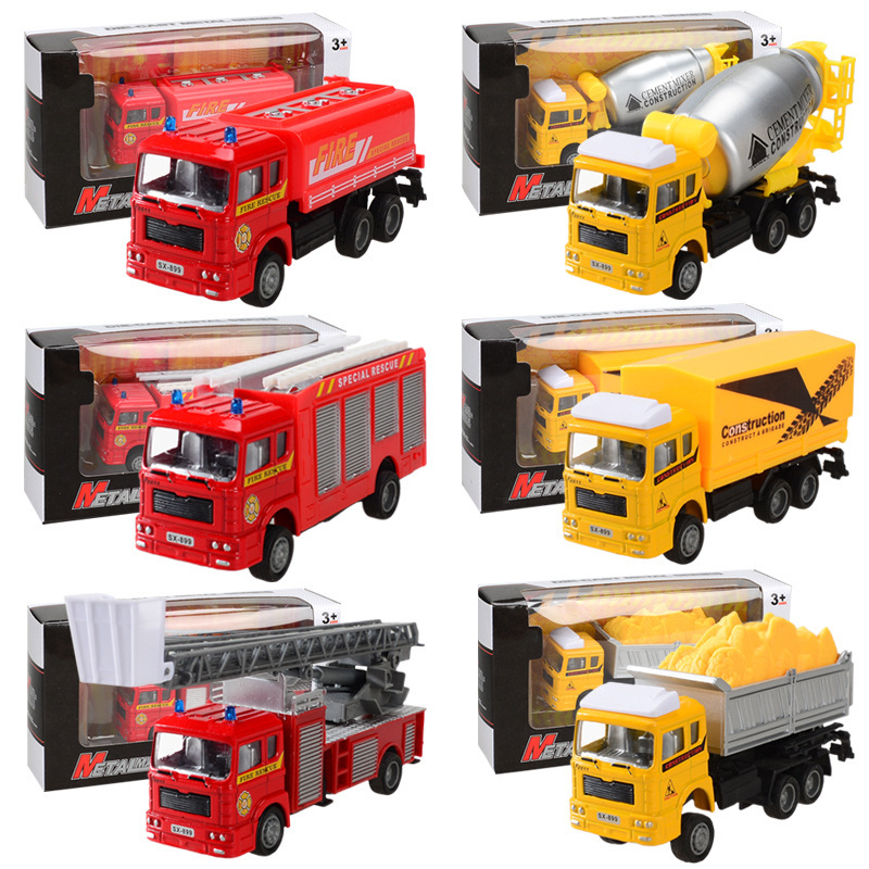 BANGLI Mô hình xe Nhà máy trực tiếp sáu hợp kim điều khiển lực lượng xe mô hình cứu hỏa loạt xe đồ c