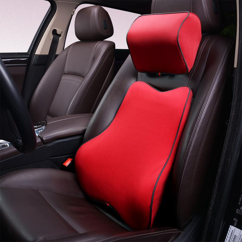 combo Gối tựa đầu và tựa Lưng Thư giãn dành cho ghế ô tô, xe hơi .