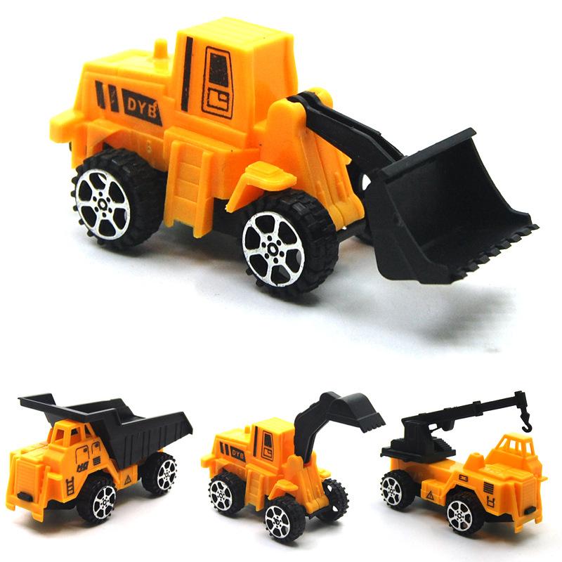 CJSL Mô hình xe Trẻ em xe đồ chơi nhựa quà tặng đồ chơi nhỏ kéo trở lại kỹ thuật xe tải máy xúc mô h