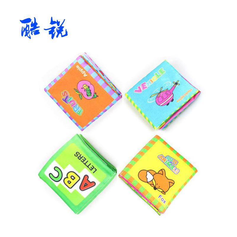 Coolplay sách vải Cuốn sách giáo dục mầm non cho trẻ sơ sinh Cuốn sách đầu tiên của trẻ em Cuốn sách