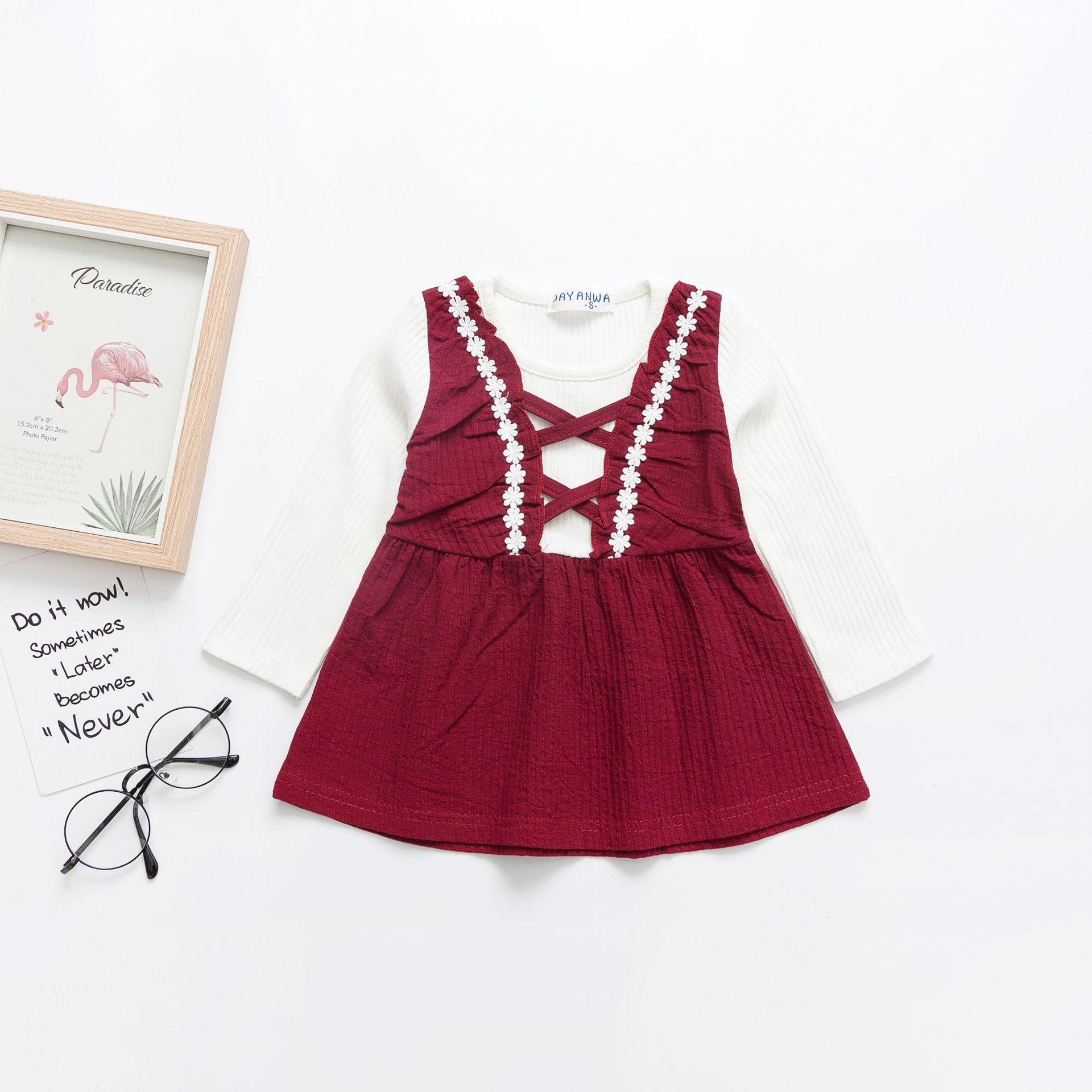 Đầm baby kiểu xòe phối Thun dễ thương , dành cho bé gái .