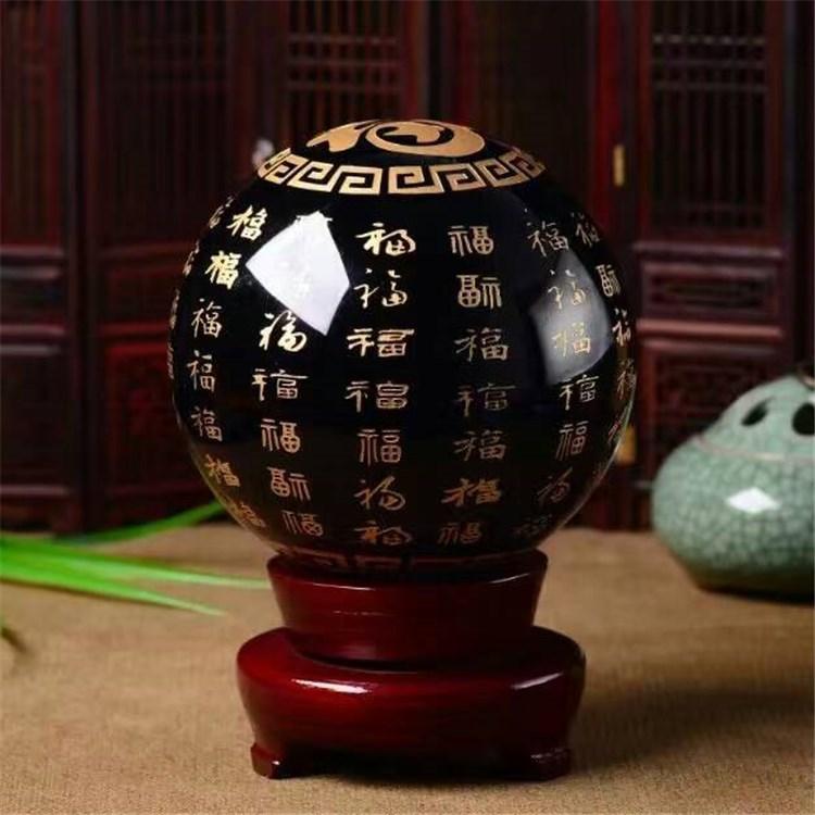 Đồ mỹ nghệ : obsidian Baifu pha lê bóng Phong thủy trang trí phòng khách