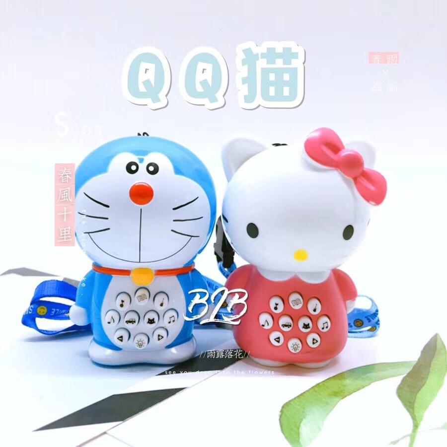 BEILEBAO Máy học tập Đồ chơi cho bé học sớm Điện búp bê Doraemon Mini Học sớm Câu chuyện máy Đồ chơi