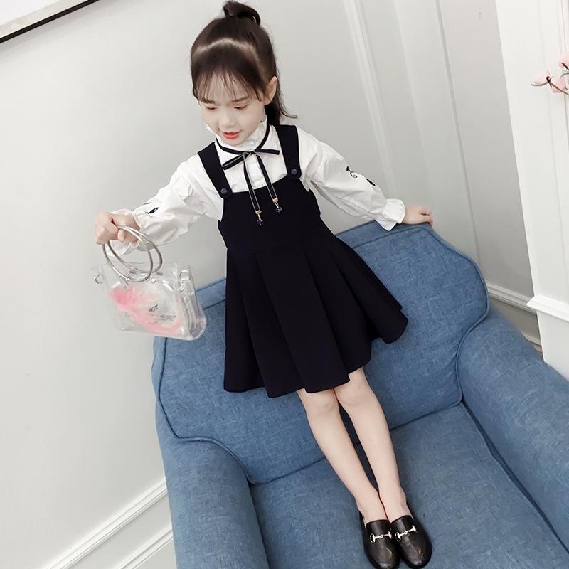 YOUXIU Phong cách Hàn Quốc Váy xuân hè 2019 phiên bản Hàn Quốc của bé trai áo dài tay phù hợp với vá