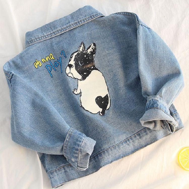 MAIBOXIONG Trang phục Jean trẻ em Quần jean bé gái phù hợp với áo khoác cho bé trai 2018 mùa thu mới