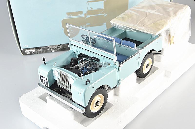 Mini cắt 1/18 Land Rover bảo vệ xe jeep xe tải xe mô hình xanh nhạt. Phiên bản giới hạn, 504 trên to