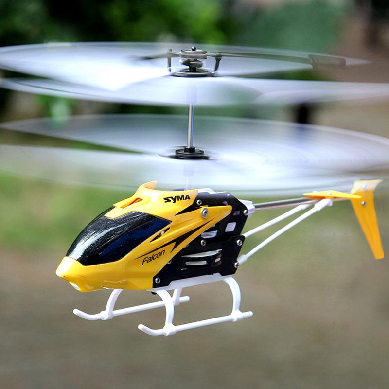 Máy bay trực thăng điều khiển từ xa đỏ và vàng Falcon SYMA