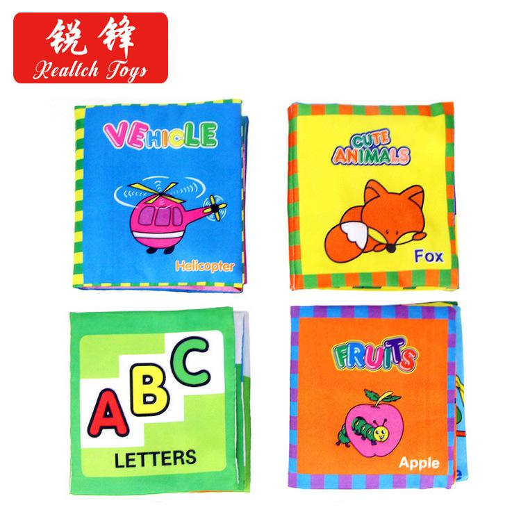 RUIFENG sách vải Giáo dục sớm trẻ em câu đố vải cuốn sách giáo dục sớm giáo dục nhận thức vải cuốn s