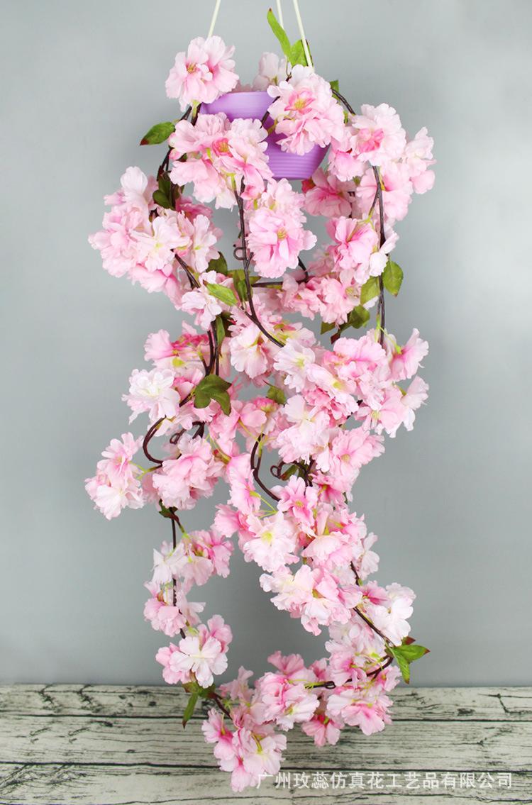 MEIXIN Trang trí lễ cưới Mô phỏng hoa anh đào mía trang trí đám cưới mô phỏng hoa nho trang trí nhà
