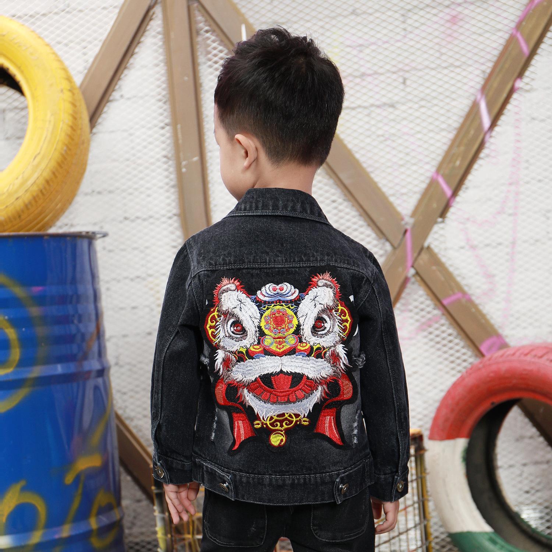 YIDAGE Trang phục Jean trẻ em Mùa thu đông 2018 phiên bản Hàn Quốc mới của quần áo trẻ em denim deni