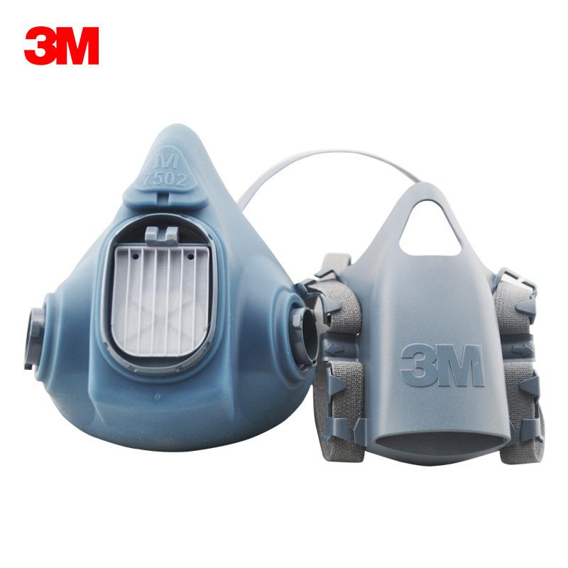 3M Mặt nạ phòng chống khí độc 7502 phun sơn đa khí hóa học thuốc trừ sâu formaldehyd trung bình mặt