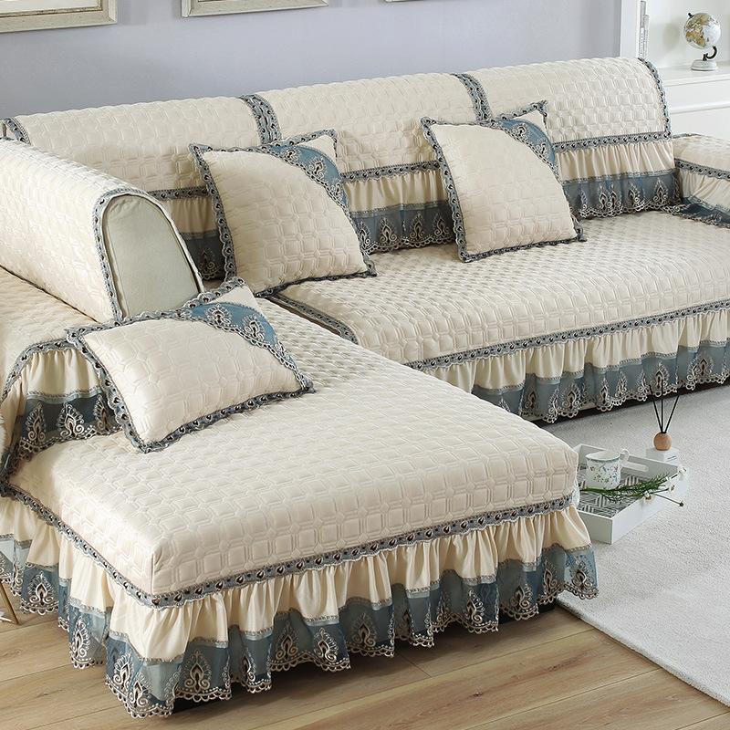 LIANYIFEI Vỏ bọc Sofa Sofa màu đệm vải bốn mùa Châu Âu đệm chống trượt sofa da bao gồm tất cả bao gồ