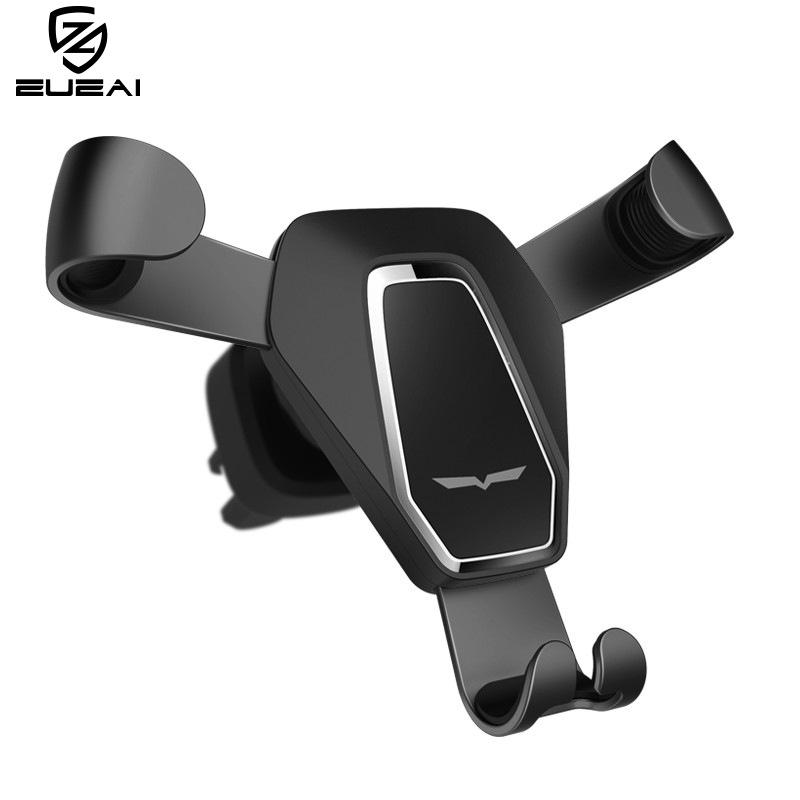 ZUZAI phụ kiện chống lưng điện thoại Xe mới trọng lực ổ cắm điện thoại kim loại xe giữ điện thoại kh