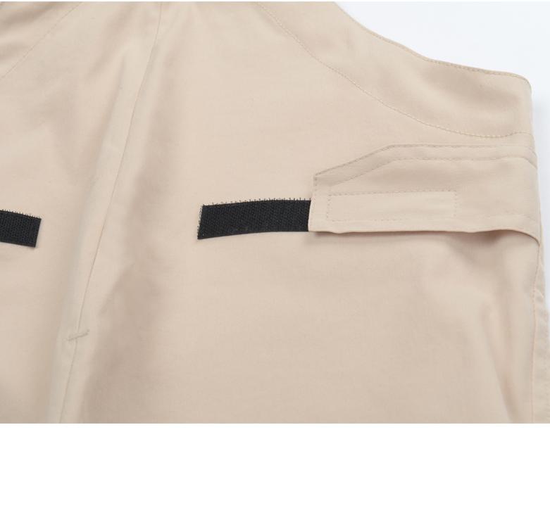 Áo khoác Bảo mẫu đứa bé mặc quần đùi trẻ em quần áo khoác trùm quần yếm mặc quần đùi chống bẩn một c