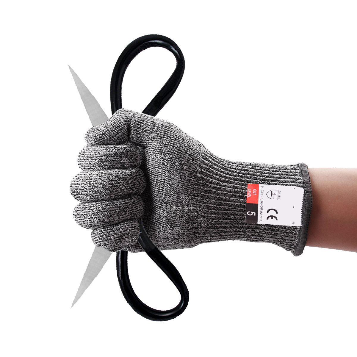 LLS Găng tay chống cắt Găng tay câu cá diều tại chỗ Găng tay chống đâm 5 cấp độ cắt HPPE Găng tay bả