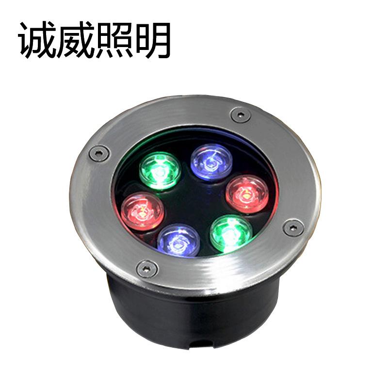 Đèn LED âm đất hình tròn dùng ngoài trời không thấm nước .