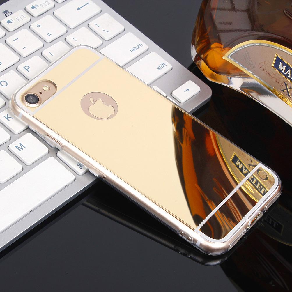 MicroData bao da điện thoại Áp dụng cho điện thoại di động iphone7 vỏ acrylic gương TPU Vỏ bảo vệ Ap