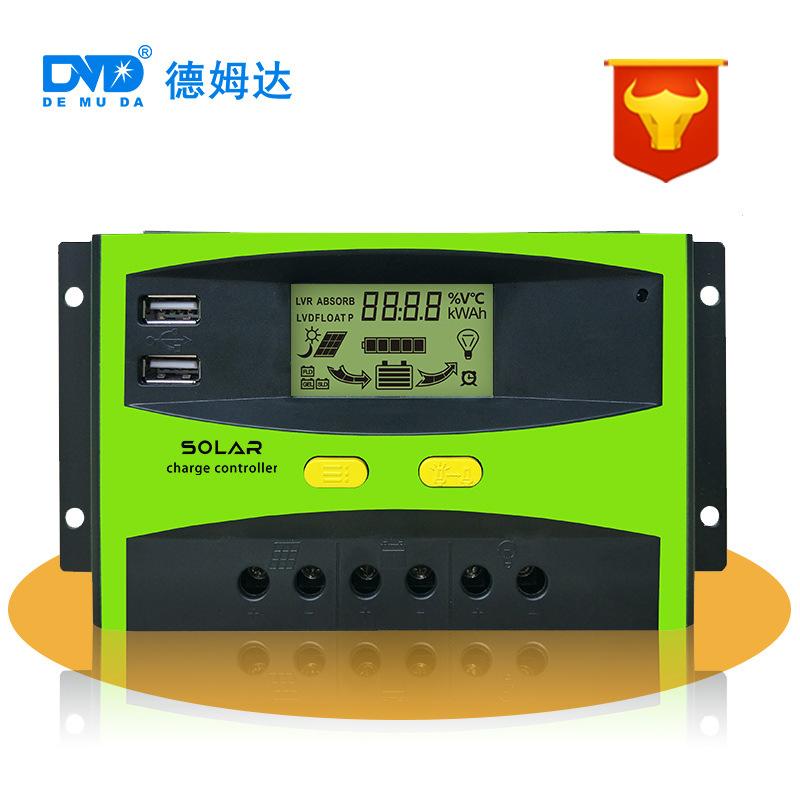 DEMUDA Mạch bo Bộ điều khiển năng lượng mặt trời 20a-60a nhà sản xuất bộ sạc quang điện bộ điều khiể