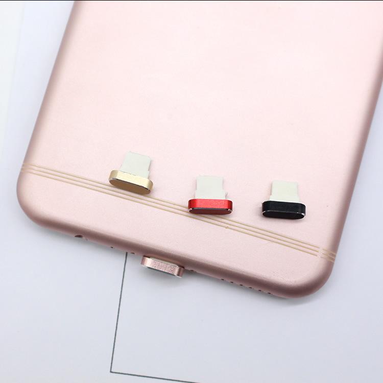 YADIANNA Nút cắm chống bụi Bán buôn bụi cắm kim loại 7plus sạc lỗ cắm điện thoại di động dữ liệu cổn
