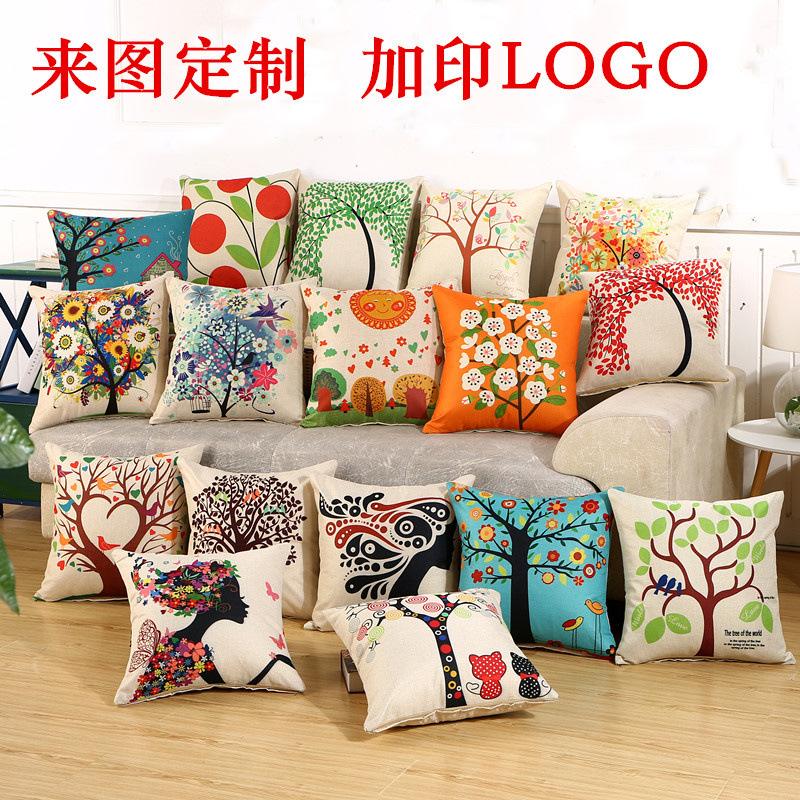 Gối Đệm Sofa sáng tạo với Kiểu in logo phá cách .