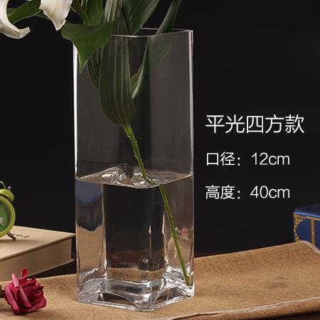 Bình bông  Thủy tinh pha lê trong suốt hoa loa kèn tuba Hoa bốn xi lanh thẳng Dracaena braunii bình