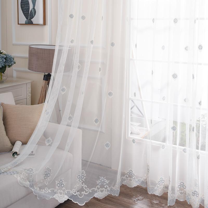 BOSIXIU rèm thuỷ tinh Màn hình trắng Rèm cửa hiện đại Rèm cửa có sợi Nghiên cứu phòng ngủ phòng khác