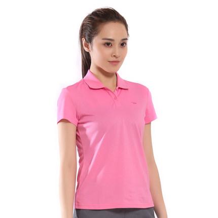 Áo thun Delhui Del Hui Women's Summer New Lapel Slim Quần áo thể thao Nhẹ thoáng khí Quần áo giản d