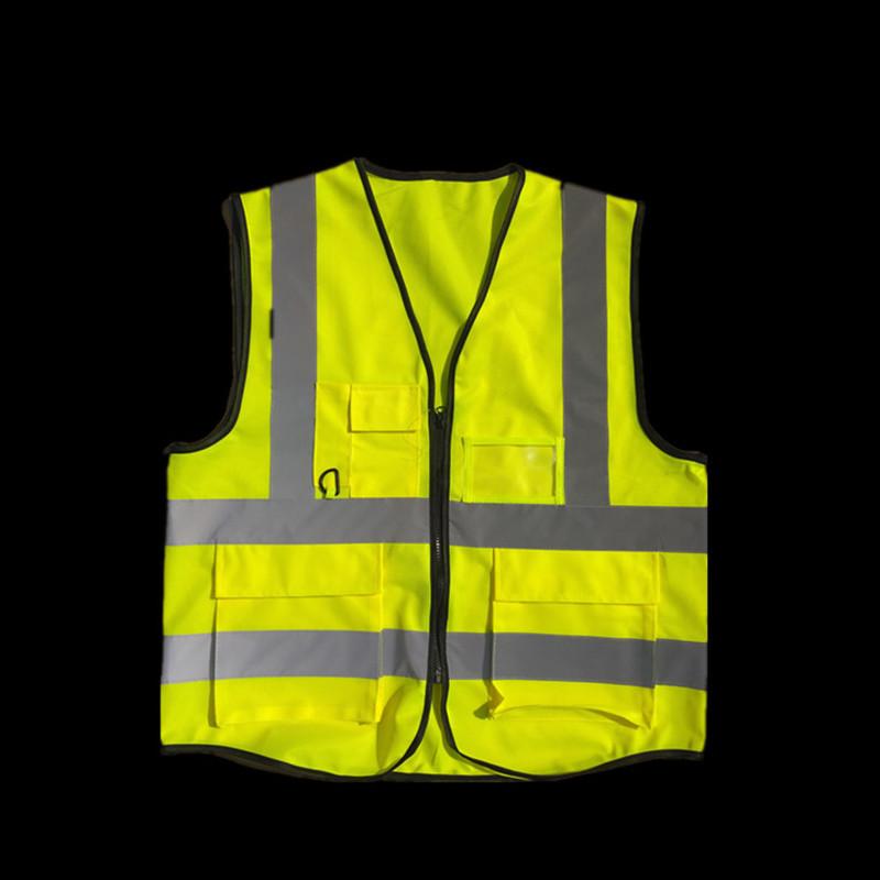JINGCHENG Trang phục bảo hộ Nhà máy trực tiếp tùy chỉnh in nhiều túi áo phản quang huỳnh quang vệ si