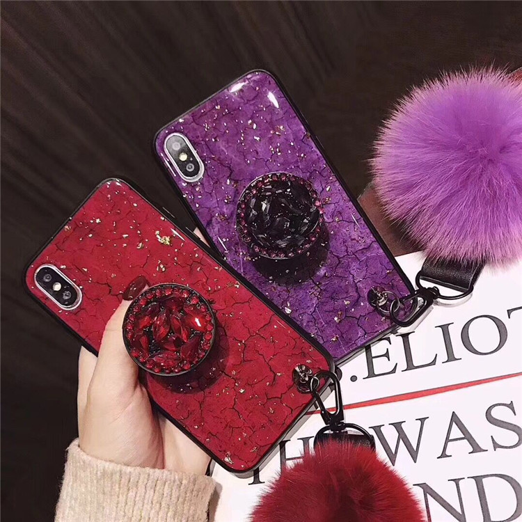 iphone   Thị trường phụ kiện di động  R15 XS MAX áp dụng xa hoa quả banh lông ngắn dây 7P Phòng ngã