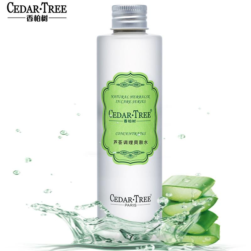 Cedar·tree Nước hoa hồng Cây tuyết tùng Aloe Vera Toner Control Oil Làm mới So nhẹ Lotion Kem dưỡng