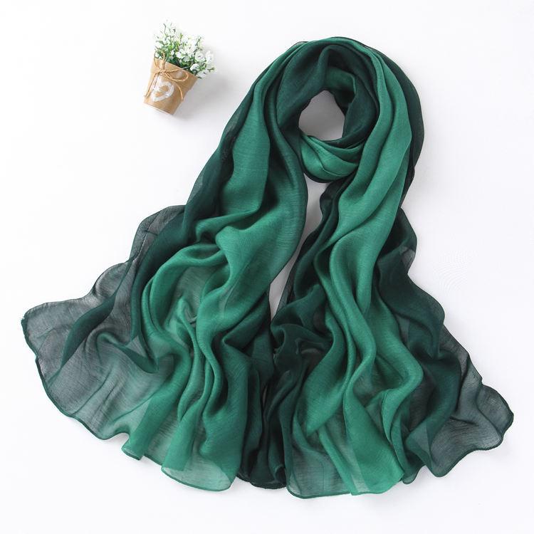 Khăn biến màu Nhà máy bán buôn 16 lụa mới modal gradient màu khăn quàng khăn quàng cổ chống nắng máy