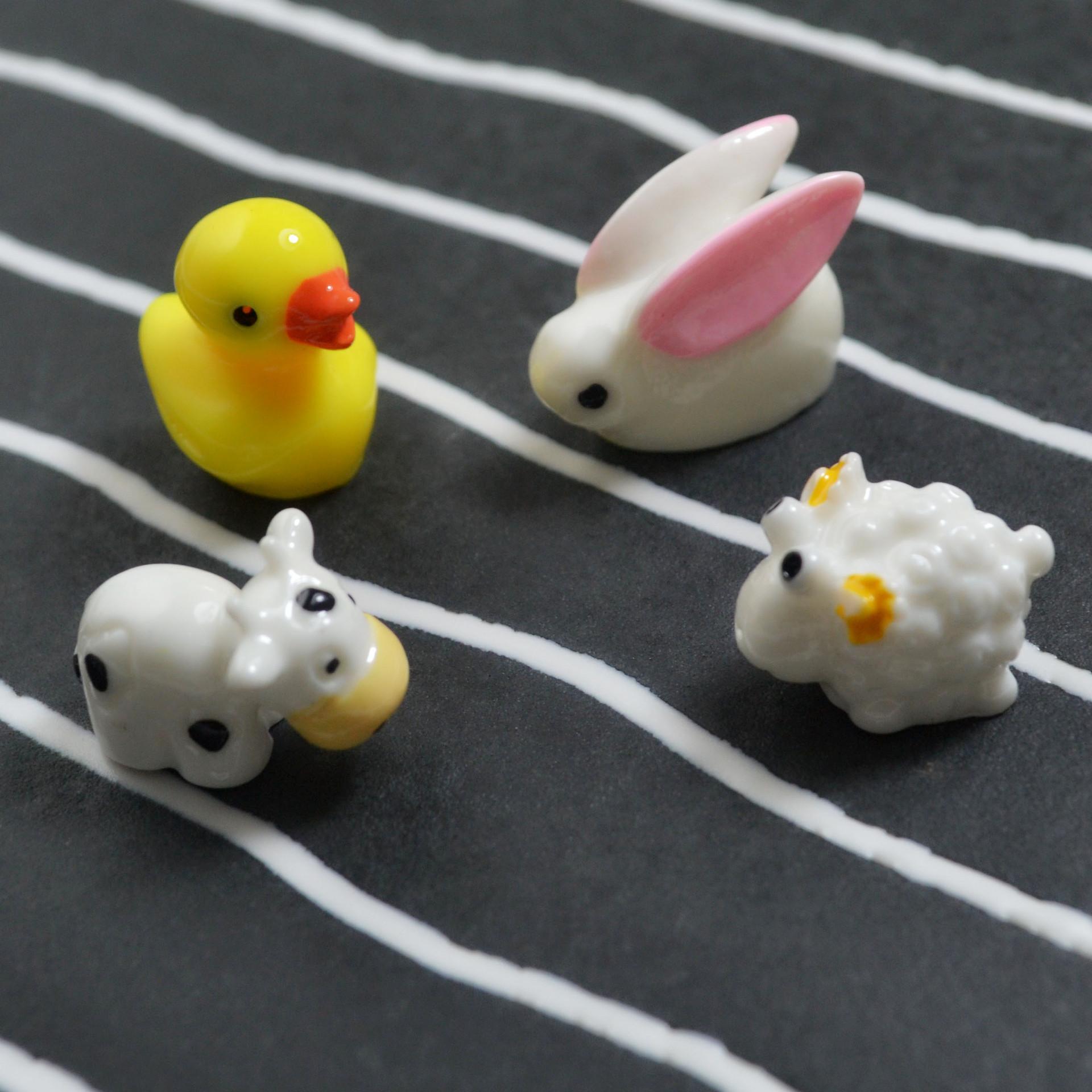 CAIWEI Nút cắm chống bụi Micro cảnh động vật nhỏ đồ trang trí bụi cắm phụ kiện nhựa nhỏ bò ảnh cây c