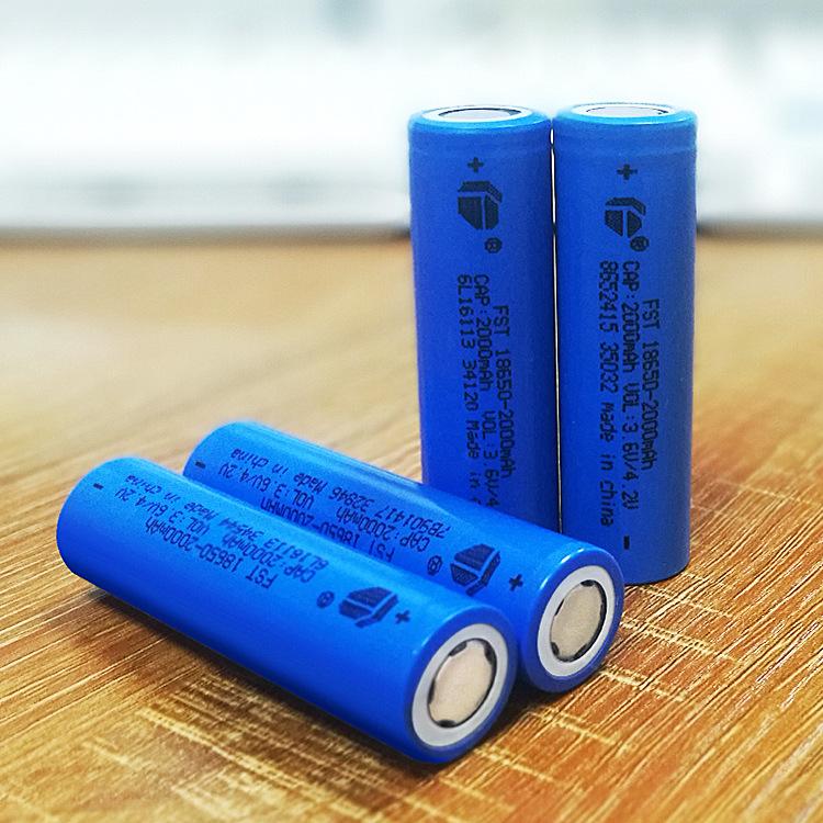 FUSITE Pin Lithium-ion Pin 18650 pin 2000mAh 3.7v sạc kho báu năng lượng mặt trời đèn điện xe điện s