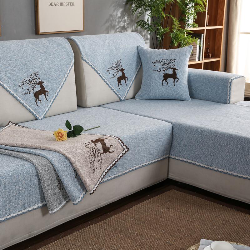 LIANYIFEI Đệm lót SoFa Cotton và vải lanh dệt sofa đệm vải chống trượt bốn mùa phổ quát đơn giản hiệ