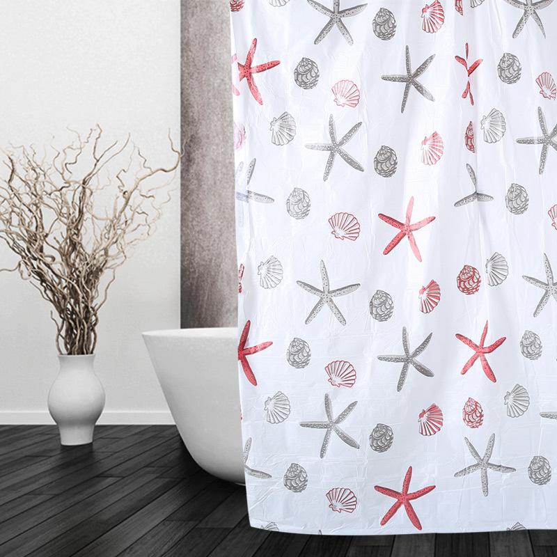 LIANGDUJUAN Thị trường trang trí nội thất Rèm phòng tắm PEVA đặc biệt Rèm phòng tắm Rèm dày không th