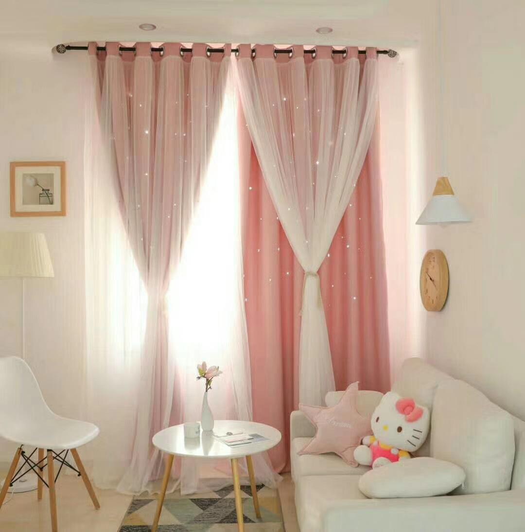 rèm cửa sổ Rèm cửa phòng ngủ phong cách Hàn Quốc rèm phòng ngủ màn hoàn thành sản phẩm tùy chỉnh 201