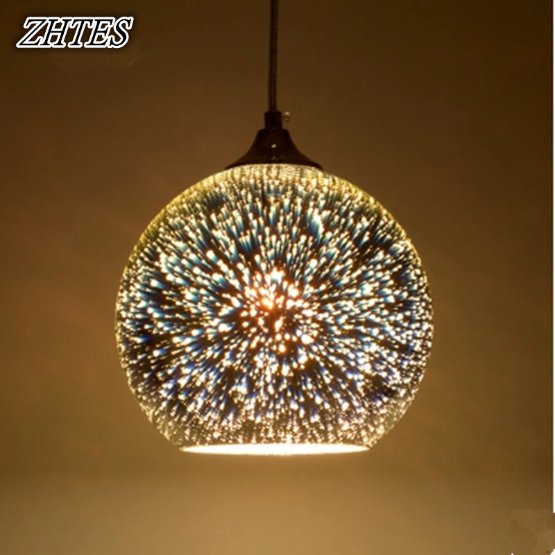 Đèn treo trần Trang Trí sáng tạo 3D bóng đèn thủy tinh .