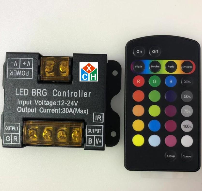 Mạch bo Bộ điều khiển thông minh vỏ sắt Bộ điều khiển vỏ sắt điều khiển công suất cao led 5050RGB vớ