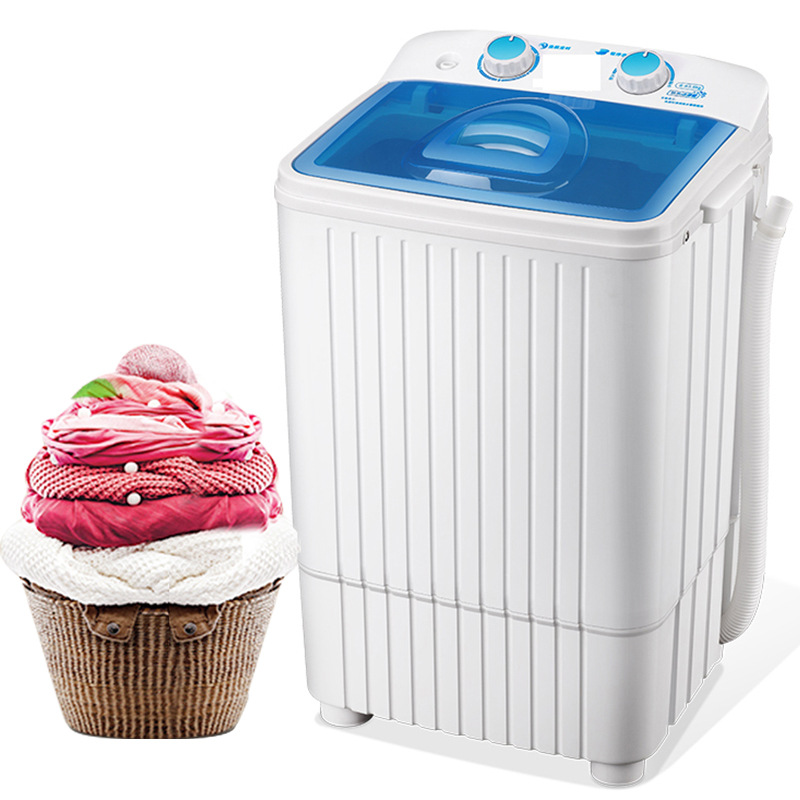 ZSXY Máy giặt Vịt con 7.0 công suất lớn một thùng nhỏ Máy giặt mini bán tự động khử trùng và giặt mộ