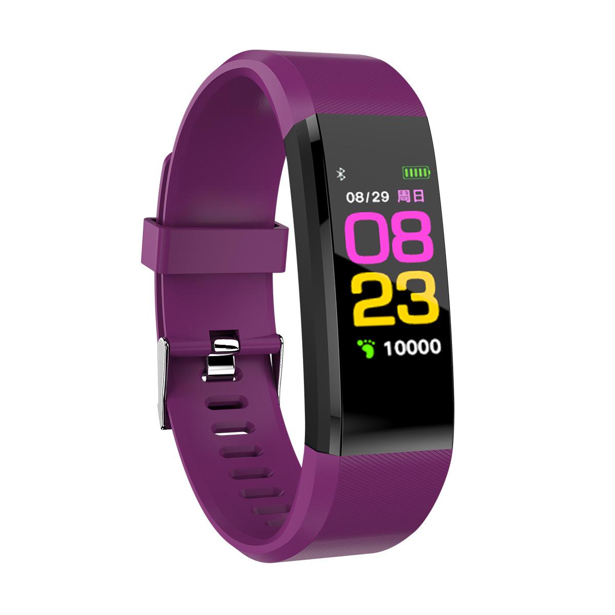 Vòng đeo tay thông minh ID115PLUS màn hình màu mới vòng đeo tay thể thao thông minh bước calorie xem