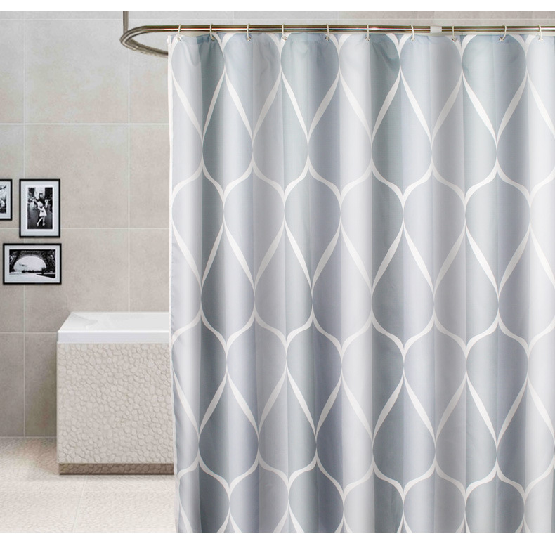 LANSHE Thị trường trang trí nội thất Cung cấp độc quyền xuyên biên giới Rèm tắm không thấm nước đơn