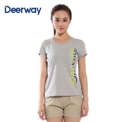 Áo thun Del Hui mùa hè mới của phụ nữ thời trang thể thao cổ tròn in áo thun tay ngắn giản dị mùa hè