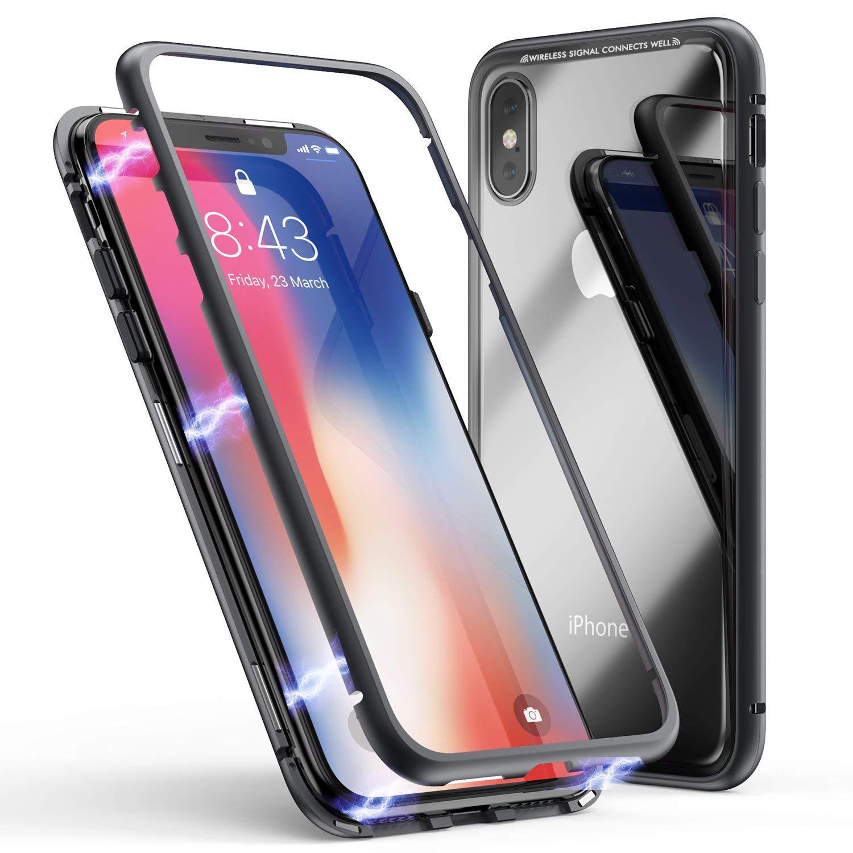JZZS bao da điện thoại Áp dụng iphoneX từ tính run rẩy từ tính vua 7P vỏ điện thoại di động XS MAX k
