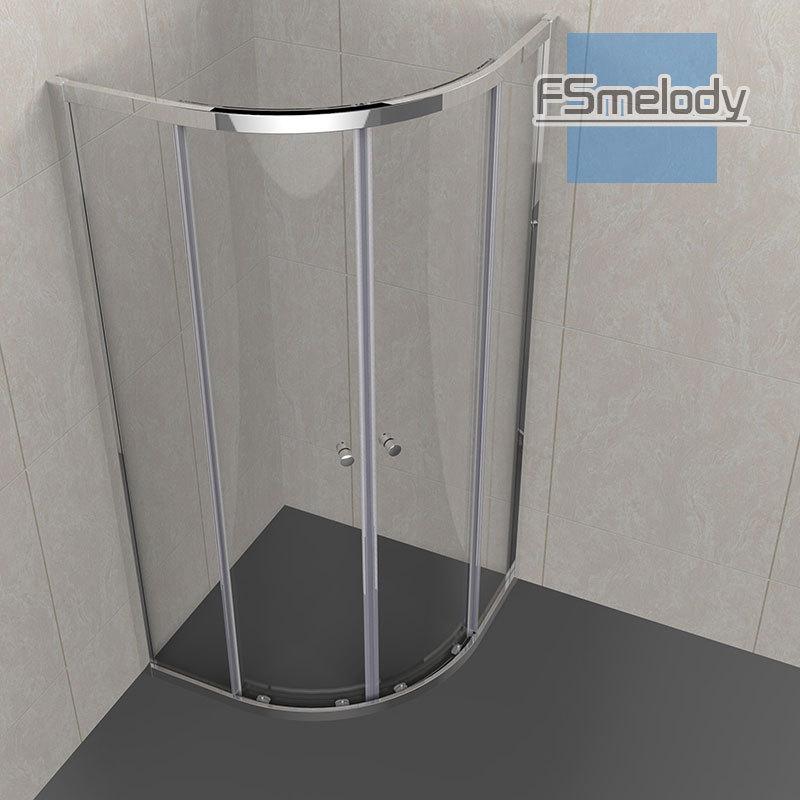 Bồn đứng tắm : vách ngăn Phòng tắm Bằng kính cường lực Thiết kế đơn giản .
