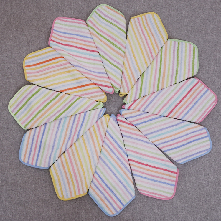 khăn tay Nhà máy bán buôn khăn tre sợi màu đặc biệt 30 * 30 phổ thông trẻ em vuông nhỏ tùy chỉnh bán