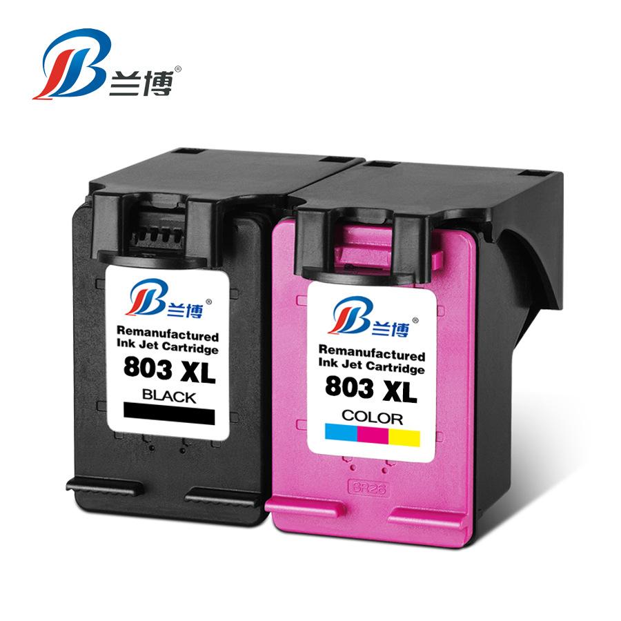 LANBO Hộp mực nước Tương thích với HP804 màu đen DeskJet Máy in HP 1111 2131 hp2132 1112