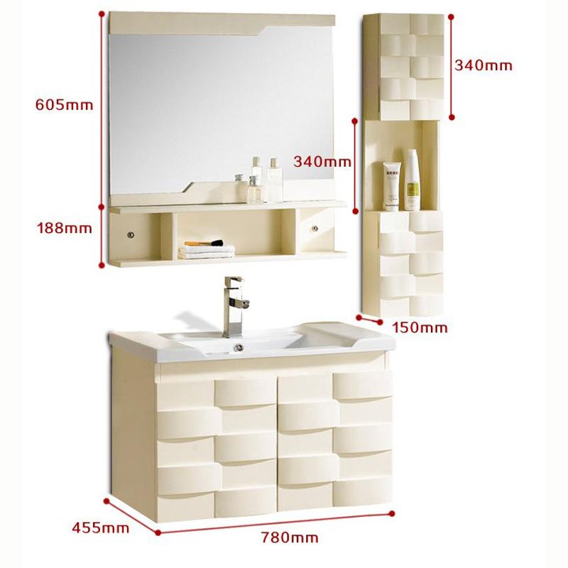 Bộ Tủ phòng tắm hiện đại kết hợp tủ gỗ rắn , tủ gương và bồn rửa Tay .