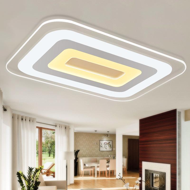 Đèn Led Ốp Trần trang trí siêu mỏng hình chữ nhật hiện đại .